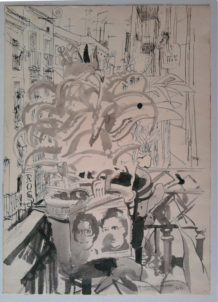 Barcelona 1980, Schwannecke, Fahndungsgemälde aus Zeitung