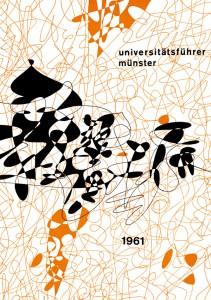 Abb. 4: Titelblattgestaltung Schwanneckes für die Ausgabe des Universitätsführers Münster von 1961