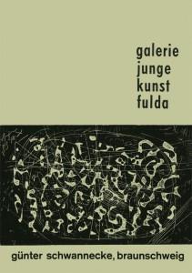 """Titelblatt des Fuldaer Katalogs """"Günter Schwannecke, Braunschweig"""" von 1960 mit einer Zinkätzung des Malers aus dem Jahre 1959"""
